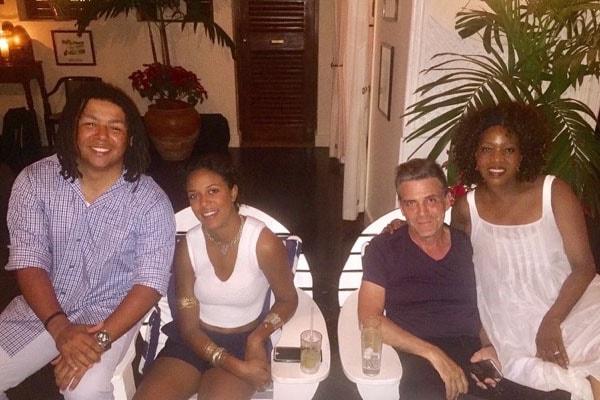 Mavis Spencer with her family