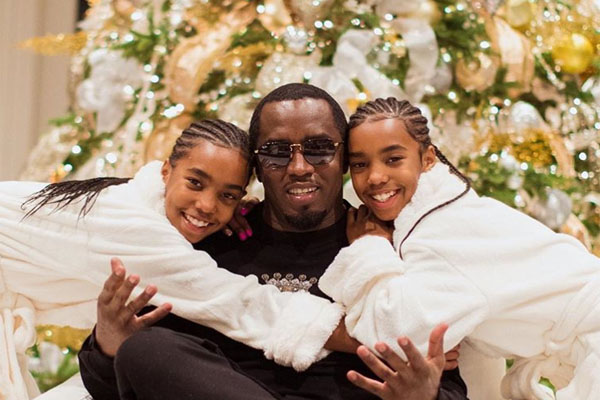 Sean Combs' twin daughters Jessie James Combs and D'Lila Star Combs