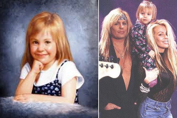 Vince Neil and his ex-girlfriend Sharise Ruddel with their daughter Skyler Lynnae