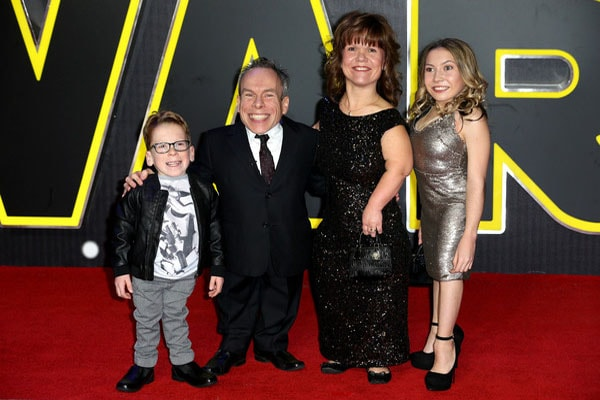 Warwick Davis and his family