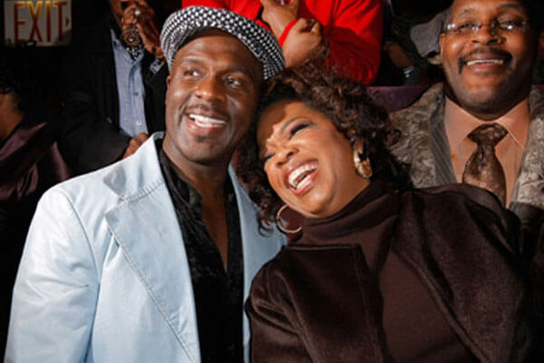 BeBe Winans and Oprah Winfrey