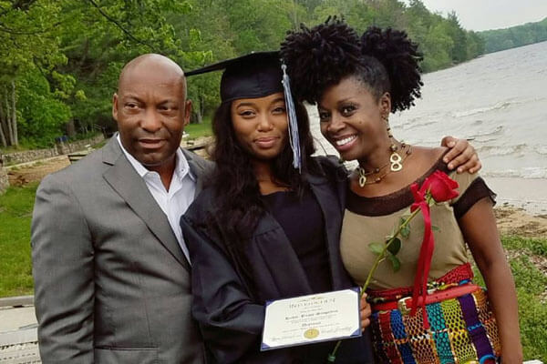 John and Akosua's daughter Hadar Busia-Singleton graduated college