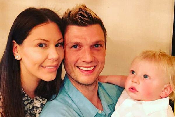 Nick Carter's wife and son, Lauren Kitt Carter and Reign Carter
