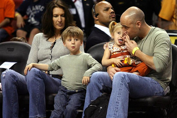Jaden Agassi with his family