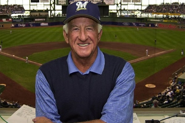 Father of four children, Bob Uecker, poses for a picture