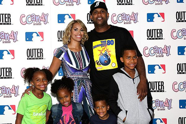 The beautiful children and gorgeous wife of CC Sabathia