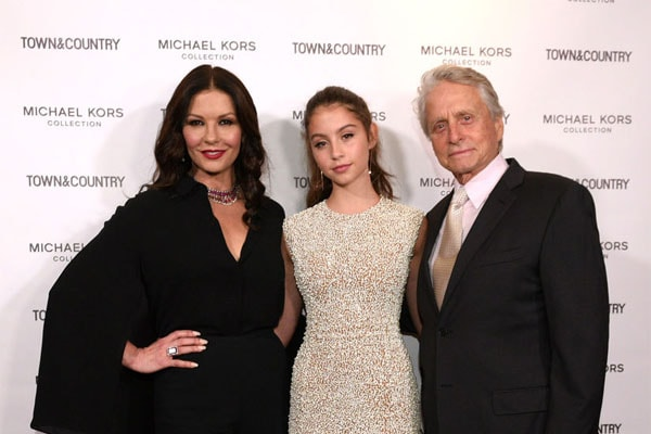 Carys Zeta Douglas is Michael Douglas' daughter with his wife, Catherine Zeta-Jones
