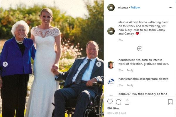 Ellie LeBlond's grandparents are George H. W. Bush and Barbara Bush
