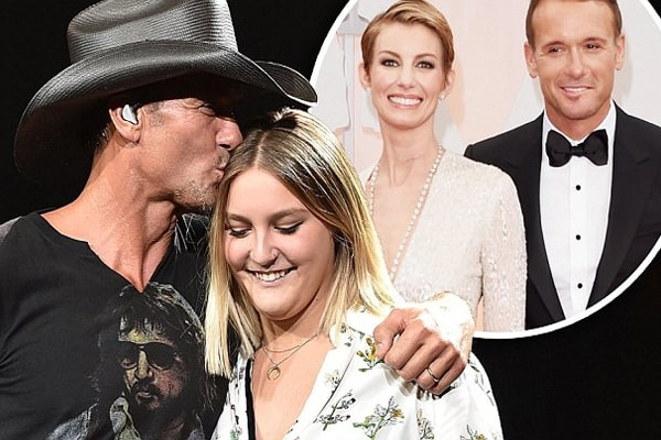 Tim McGraw's daughte with his wife, Faith Hill is Gracie McGraw