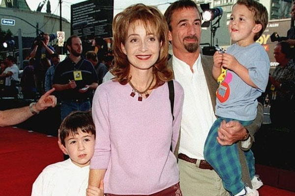 Annie and James with their sons Harry and Doc
