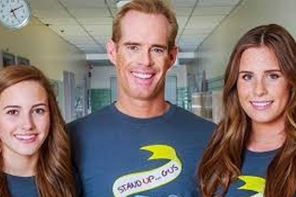 Joe Buck with his two daughters, Turdy Buck and Natalie Buck