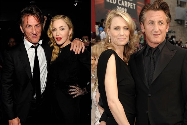 Sean Penn's ex-wives are Madonna and Robin Wright