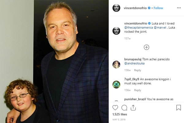 Luka D'Onofrio is Vincent D'Onofrio's son with wife, Carin van der Donk