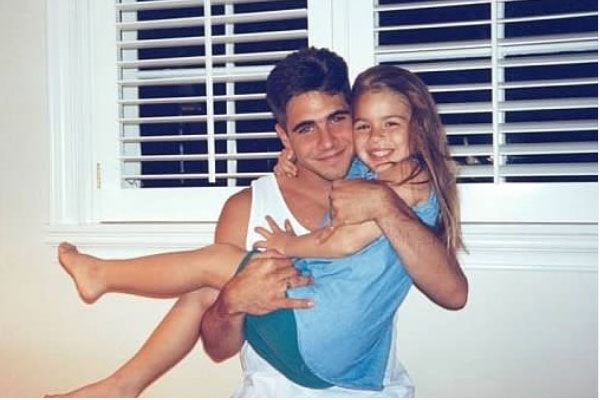 Marc with his step-sister Katherine