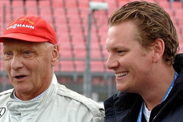 Father Niki with son Lukas