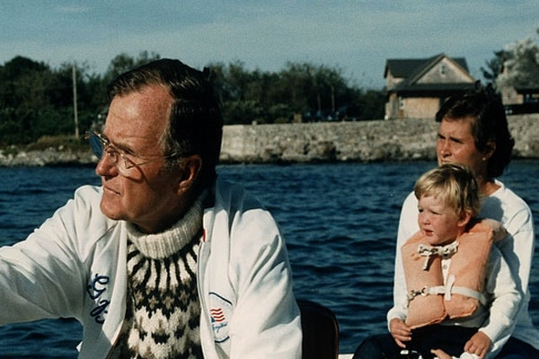 Sam LeBlond's grandfather is George H. W. Bush