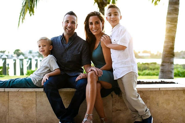 Howie Dorough's family and two sons