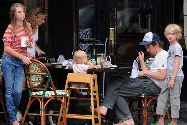 Ethan Hawke and Ryan Hawke's daughter Indiana Hawke