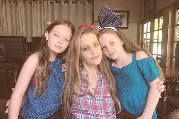 Lisa Marie Presley's twin daughters