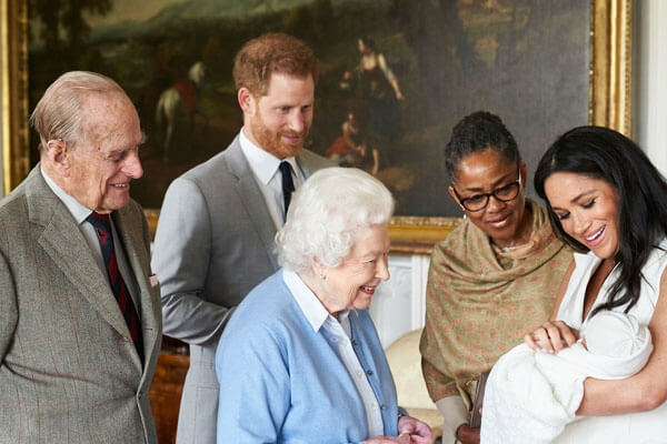 Queen Elizabeth II's grandson Archie Harrison Mountbatten-Windsor