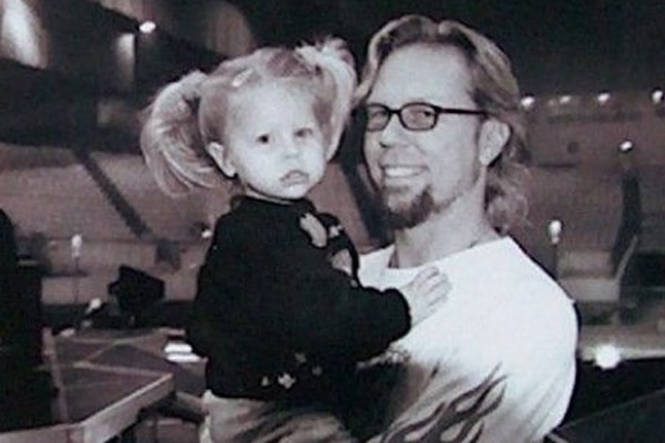James Hetfield's daughter is Marcella Francesca Hetfield