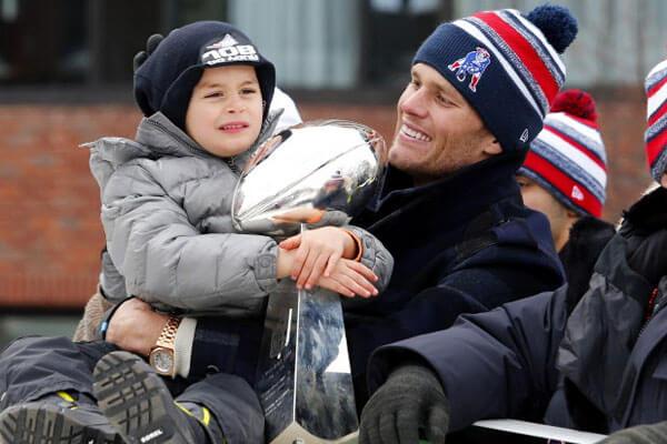 Tom Brady and son Benjamin Brady