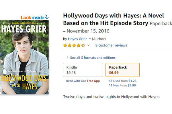 Hayes Grier's Amazon book