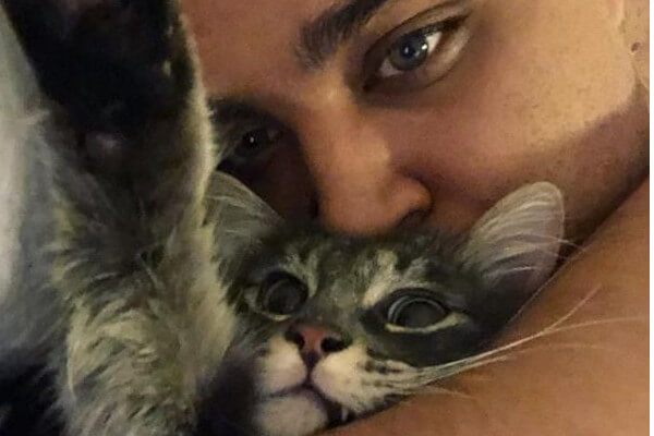 Kyle Fox's cat meows