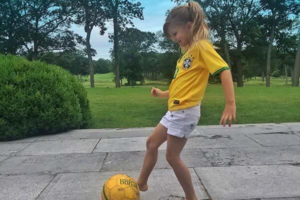 Vivian Lake Brady plays soccer