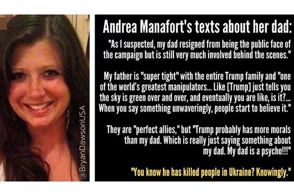 Paul Manafort's daughter Andrea Manafort