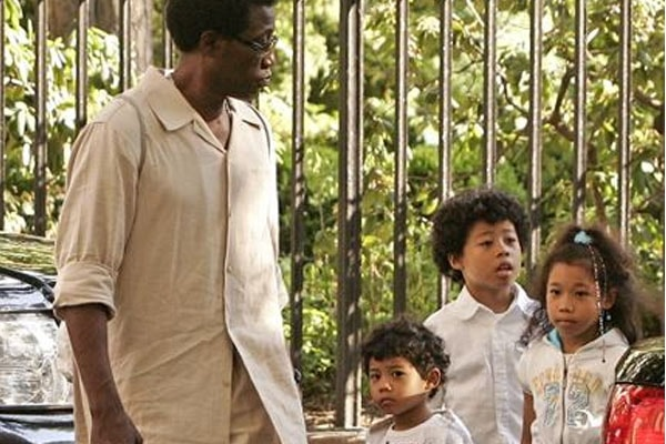 Wesley Snipes with his Children