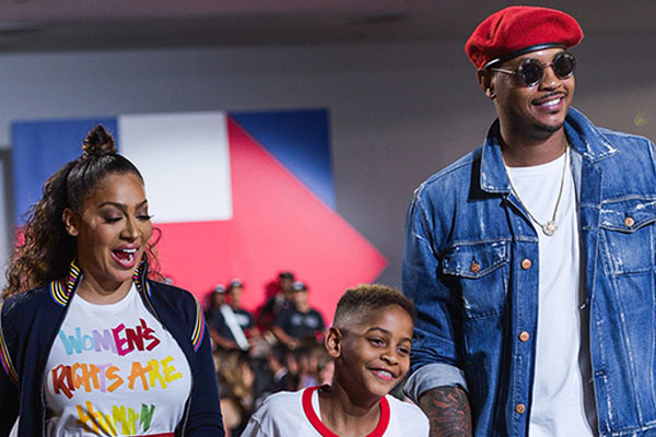 Carmelo Anthony's son Kiyan Anthony with his ex-wife La La Anthony