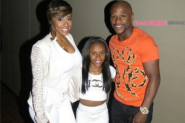 Iyanna Mayweather's parents Floyd and Melissa