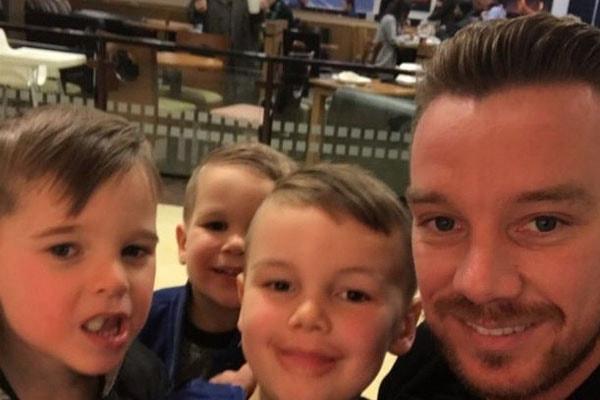 Jamie O'Hara's three children, Harry James O'Hara, Archie O'Hara, and George O'Hara