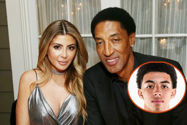 Scottie Pippen's Son Scotty Pippen Jr with his wife Larsa Younan
