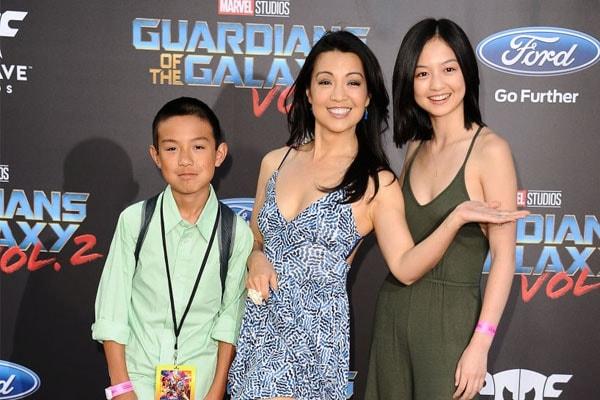Cooper Dominic Zee's family, Ming Na, Eric Michael Zee, and Michaela Zee