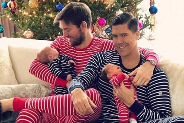 Derek Kaplan's baby twins, Milla Eklund and Fredrik Eklund Jr.