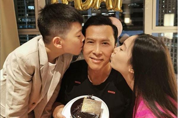 Donnie Yen's kids , Jasmine Yen, and James Yen
