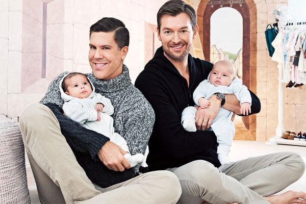 Fredrik Eklund's twin babies, Milla Eklund and Fredrik Eklund Jr.