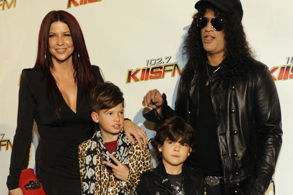 Slash's children London Emilio Hudson, and Cash Anthony Hudson