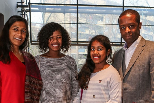 Adrian Lester's daughters Jasmine Lester and Lila Lester