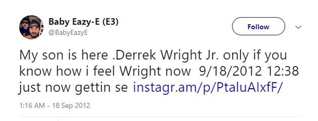 Baby Eazy-E son Derrek Wright Jr.