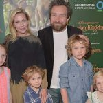 Eddie Marsan and Janine Schneider-Marsan's children Blue Marsan, Tilly Marsan, Rufus Marsan, and Bodie Marsan