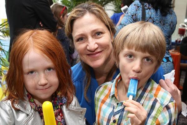 Edie Falco's Children Macy Falco and Anderson Falco