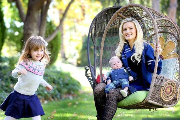 Holly Madison's kids Forest Leonardo Antonio Rotella and Rainbow Aurora Rotella