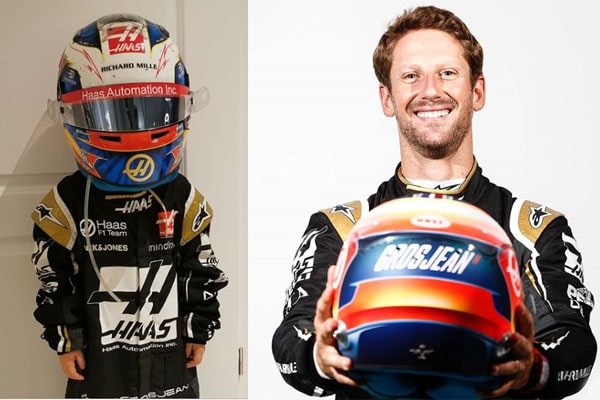 Romain Grosjean's son Sacha Grosjean