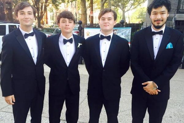 Bill Murphy's sons Jackson, Lincoln, Caleb and Cooper Murray