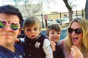 Philip DeFranco's wife Lindsay DeFranco and their two sons