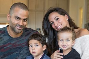 Tony Parker's sons Liam Parker and Josh Parker