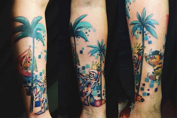 Julien Solomita's tattoo
